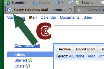 gmail interactive favicon